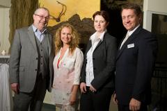 06.02.2012, AUT, Novatel Graz, Vernissage Schilcher-Asen, Im Bild: Sabine Schilcher-Asen und Michel Nikolov, FOTOCREDIT: ERWIN SCHERIAU
